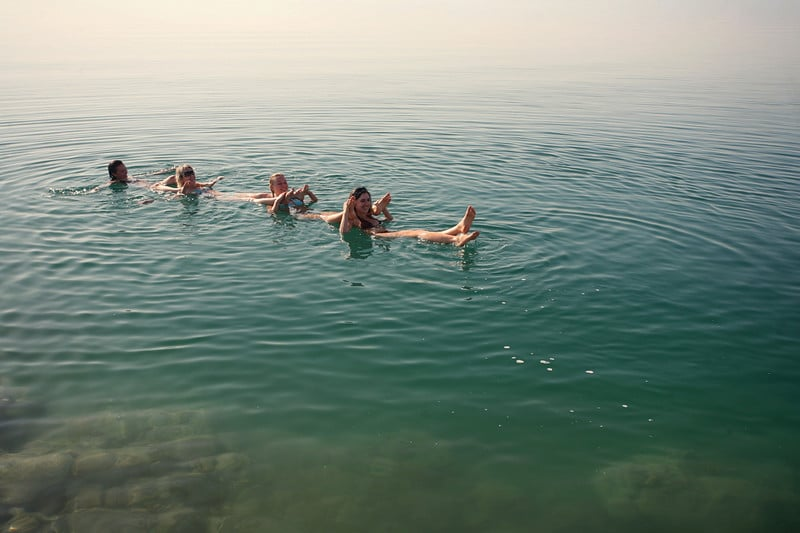 Float in the Dead Sea when you visit Jordan