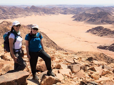Wadi Rum top of a mountain